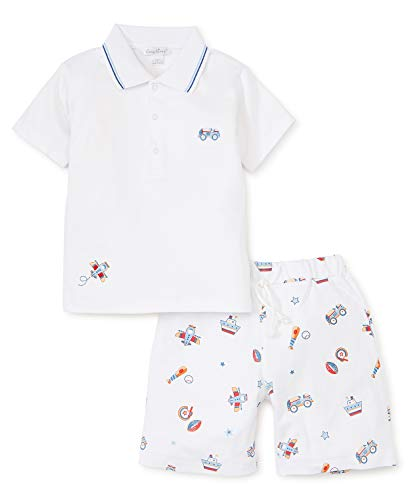 Kissy Kissy Baby-Boys Infant It's A Boy Bermuda Short Set with Collar-Multicolored-9 Months