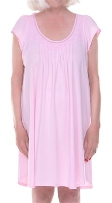 XS-106-3-PACK S//M Pink DIGNITY PAJAMAS 3-Pack Womens Cotton Cap Sleeve Adaptive Open Back Patient Nightgown with Lace Trim