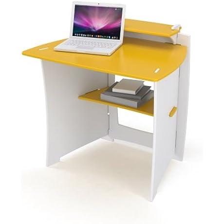 Legare 34 Inch Kids Desk Yellow And White