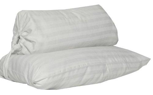 Down Etc. Head Heaven Travel Pillow with Knap Sack, White