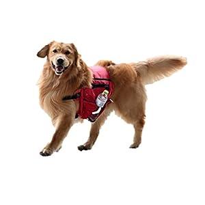 Ducomi Mochila para perros con bolsa – Arnés de sillín para perro para viaje, camping, excursión – Arnés con correa y…