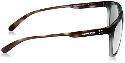 Matte GRIND AN4235 Gris Polargreymirrorsilver Grey Havana Sonnenbrille CROOKED Arnette CwqvPAx