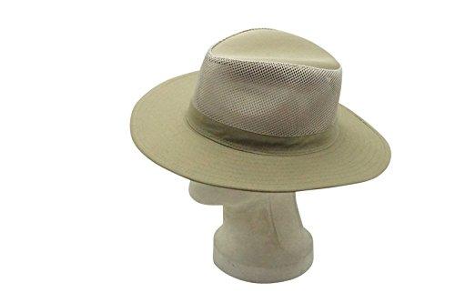 Soft Mesh Aussie Breezer Hat For Large Heads  Outdoor Safari Sun Blocker Cap  Olive