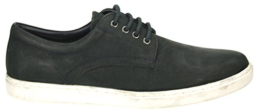 Red Tape Mens Teviot Brown Navy lace up leather casual trainer pump shoes Navy blue dEq5f