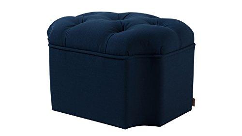 Jennifer Taylor Home 2357-878 Miranda Ottoman, Midnight Blue