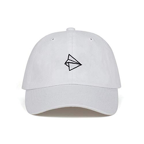 Smile-life Paper Plane Embroidery Baseball Cap Men Women Summer Adjustable Cotton Lovely Dad Hat Hip Hop Cap Hats Bone Garros,White