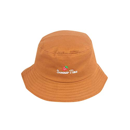 Hat Summer Adult Strawberry Cute Fisherman Hat Sunscreen Sunshade Outdoors Cap Hat,Or -