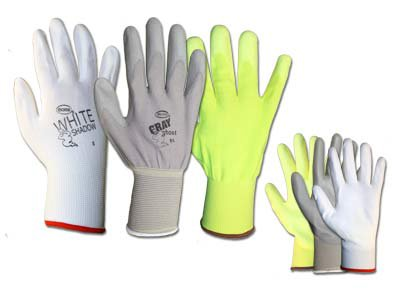Boss Manufacturing Company 3000 - General Purpose Work Gloves - Unlined, Size 9, Large, Polyurethane Coated, Knit Wrist Cuff, Pack of (Boss Gray Glove)