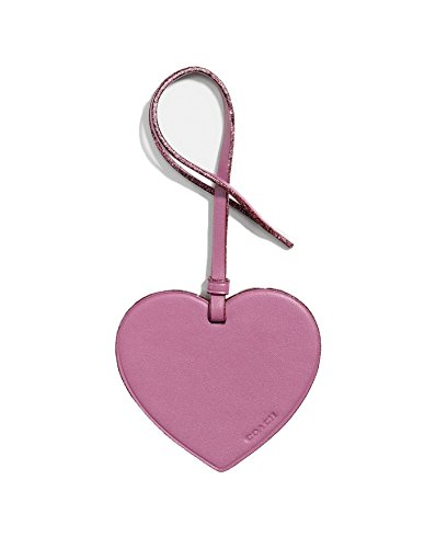 (Coach Leather Heart Hang Tag Medallion (Primrose))