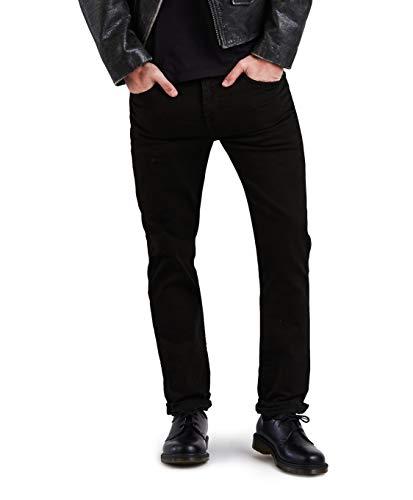 (Levi's Men's 511 Slim Fit Jean, Black - Stretch, 26W x 30L)
