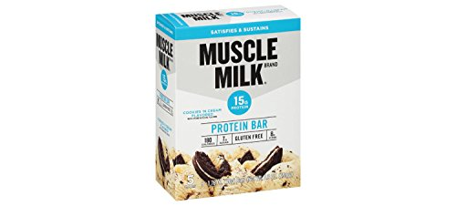 Muscle Milk Protein Bar, Cookies and Cream, 5 Little Bars (Pack of 2)