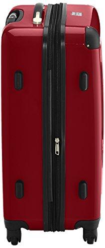 HAUPTSTADTKOFFER - Alex - 2er Koffer-Set Hartschale glänzend, TSA, 65 cm, 74 Liter, Graphit-Orange Rot