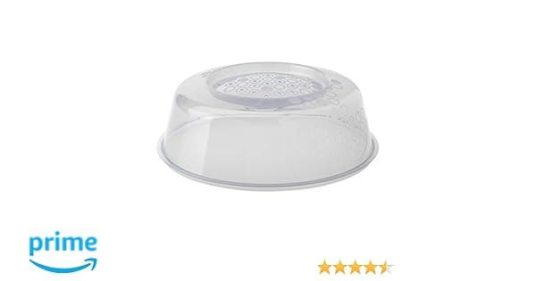 Ikea Prickig - Tapa para microondas en Gris (26 cm), Color Blanco