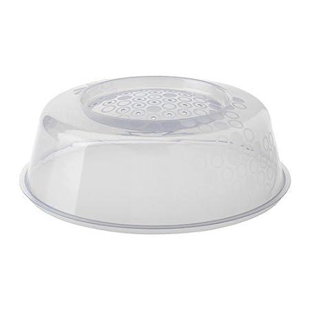 Ikea Prickig - Tapa para microondas en Gris (26 cm), Color Blanco ...