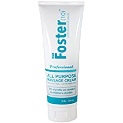 Foster(10) Lemongrass Sage Massage Cream - Made with Argan Oil, Arnica Extract, Silk Amino Acids, Not Tested on Animals, Best Skin Hydration for You and Clients
