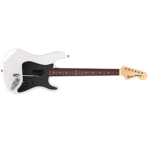 (Rock Band 4 Wireless Fender Stratocaster Guitar Controller for PlayStation 4 - White)