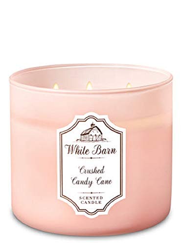 White Barn 3-Wick Scented Candle in Crushed Candy - Cane White Candy