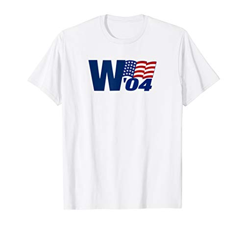 George W Bush 2004 Presidential Campaign T Shirt (George W Bush First Held Political Office As)