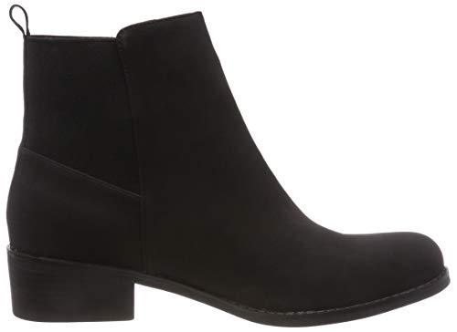 Chelsea Boots 100 Femme Back black Noir Bianco Elastic qtWT7IE