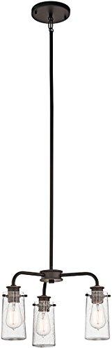 Kichler 43057OZ Braelyn Chandelier/Semi-Flush 3-Light, Olde Bronze