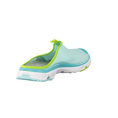 Salomon Rx Slide 3 W, Zapatillas de Trail Running para Mujer, Azul (Aruba Blue/White/Lime Green), 36 EU