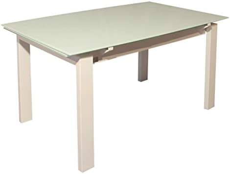 RR Design – Mesa Extensible Cristal Cocina salón Moderno 130 x 87 ...