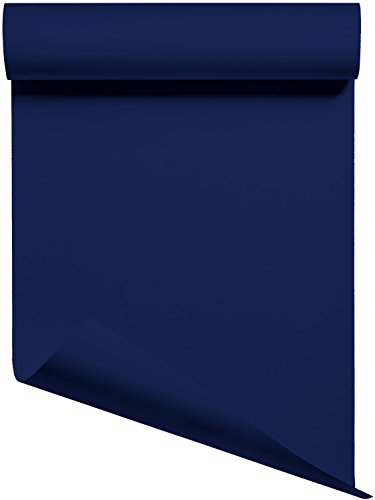 Heat Transfer Vinyl HTV/Iron-on 12 Inches by 3 Feet Roll (Navy Blue)