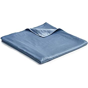 YnM Bamboo Duvet Cover for Weighted Blankets (60''x80'') - Blue Grey Print