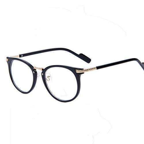 2015 Women Retro Eyeglasses Fashion Round Metal Arm Eyeglasses Frame Optical Computer Eye Glasses Frame (Matte - Ray Bandz