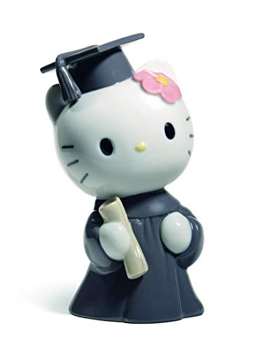 Nao by Lladro Collectible Porcelain Figurine: HELLO KITTY - Graduation Day - 5-1/4