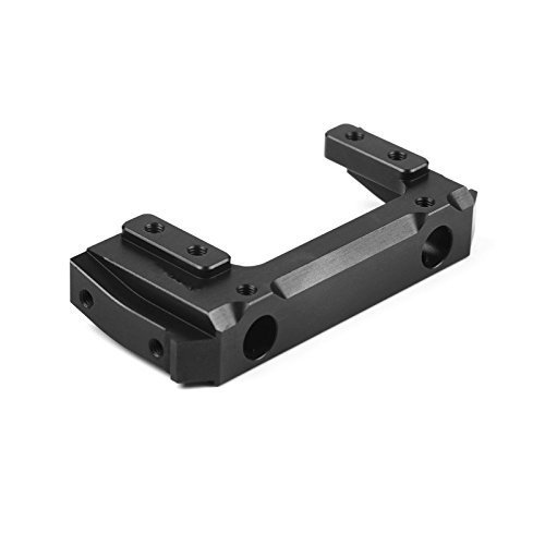 Aluminum Alloy Combat Style Servo Relocation Bumper Mount for Axial SCX10 II 90046 90047 1pc (Black)