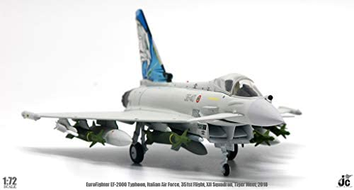 JC Wings 1/72 完成品 イタリア EuroFighter EF-2000 Typhoon Italian Air Force 351st Flight XII Squadron Tiger Meet 2018 ダイキャスト 戦闘機