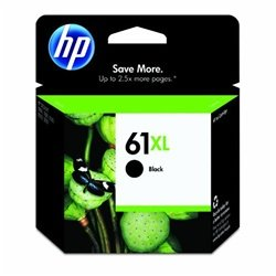 HP 61XL Black High Yield Original Ink Cartridge (CH563WN) (Hp Ink 61 Color And Black)