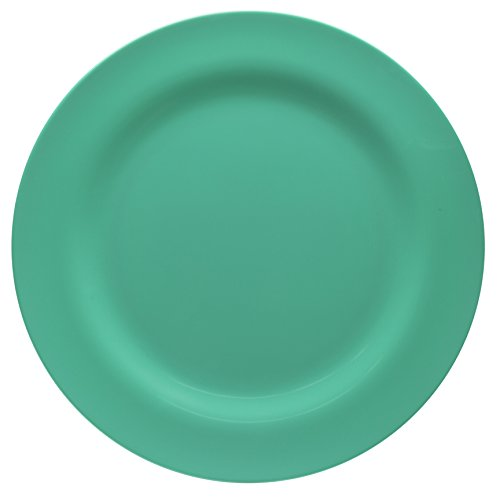 Zak Designs Ella 11-inch Plastic Dinner Plate, Seaglass (Designs Pop Zak)