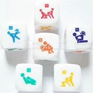 Love Sex Dice Game Toy for Bachelor Party Adult Lovers/couple Novelty Toys (2 Pcs) by EOOB
