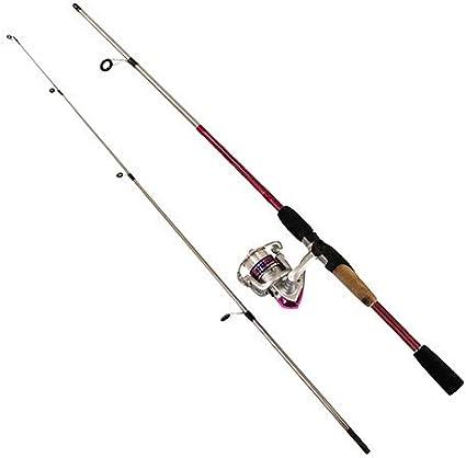 Amazon Com Okuma Slxp 562 20pk Steeler Xp Spinning Combo 20 Reel Size 1bb Bearings 5 6 Length 2 Piece Medium Power Pink Sports Outdoors