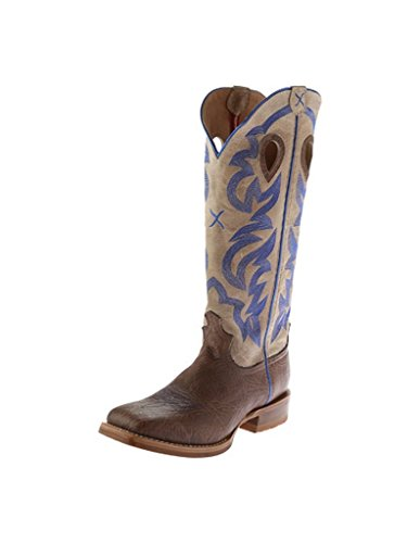 Twisted X Men's Buckaroo Boot, Color: Crazy Horse Shoulder/Cream, Size: 14, ()