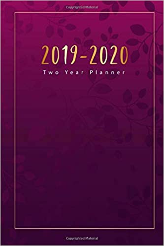 2019 2020 two year planner 2 year calendar 2019 2020 january 2019 to december 2020 2019 2020 monthly calendar 2019 2020 academic planner us