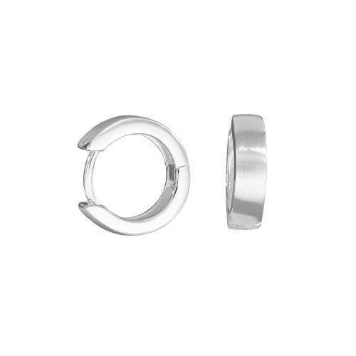 VINANI Damen Klapp-Creolen Classic small Silber 925 CCS