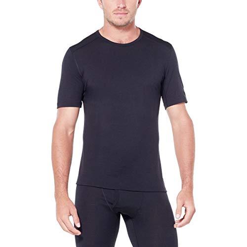 Icebreaker Merino Men's 200 Oasis Short Sleeve Crewe, Black, Large