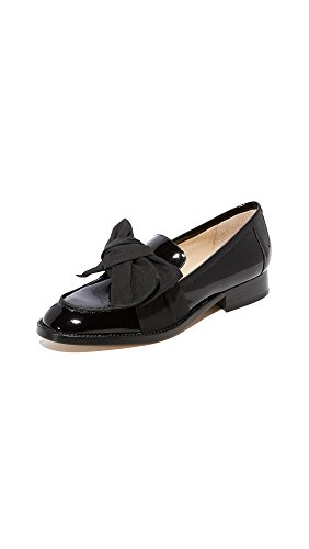 botkier Women's Violet Bow Loafers, Black, 9 M US