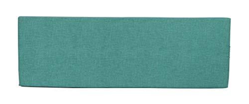 Herlag Cojin de Respaldo Premium Paletten (Respaldo, Color Azul petroleo, Cremallera, Funda Lavable, Dimensiones 120 x 40), Jaspeado