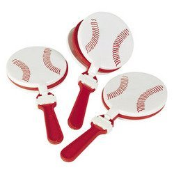 Fun Express Plastic Baseball Clappers Set (1 Dozen)