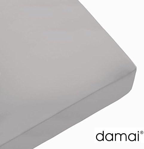 Damai sábana Bajera Doble Jersey Gris Claro – 80 – 90 x 200/210 ...