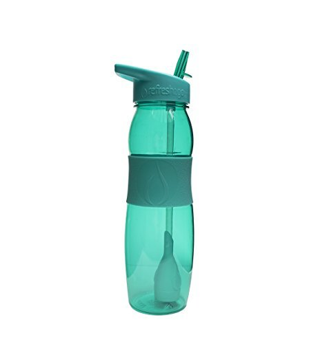 RefresH2Go Curve Water Filter Bottle with Grip, 26 Ounce