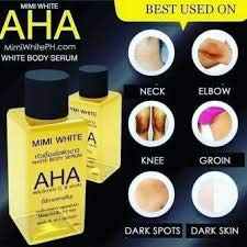 (3Pcs.AHA MIMI Body Skin Serum White Lightening Bleaching Dark Speed White White Remove Dead Skin Cells AHA Clear Dark whiteing,Rough Skin Bikini,whitening with Collagen.white in 7 day 30ml.)