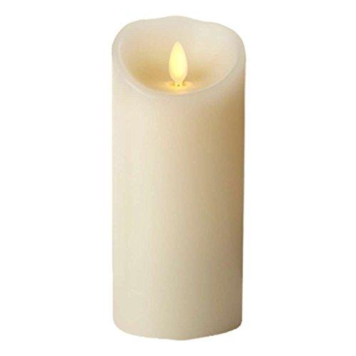 Classic Candle Pillar (Darice Luminara® Flameless Candle - Vanilla Scented Ivory Wax Classic Pillar - 8 in)