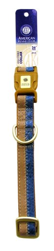 AKC 1-Inch by 18-26-Inch Collar Adjustable Toy, Blue/Camel, Large