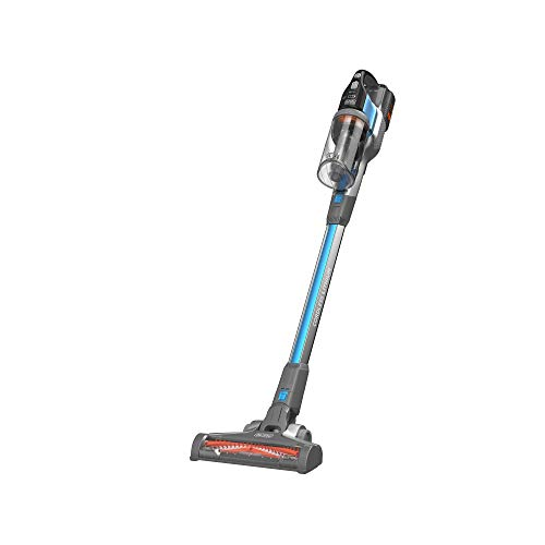 Black+Decker 36V 4-in-1 Li-Ion Cordless Powerseries EXTREME Upright Stick Vacuum Cleaner with Crevice Tool & Flip-out Brush , Blue - BHFEV362D-GB, 2 Years Warranty