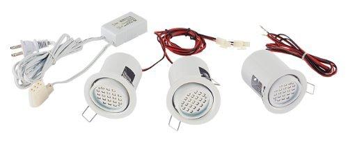Eurofase 19542-010 3-Light Mini Pot Adjustable Kit, White by Eurofase